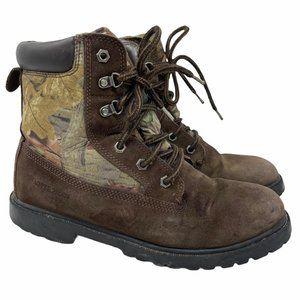 Ozark Trail Camo Leather Hunting Boots Boys 6